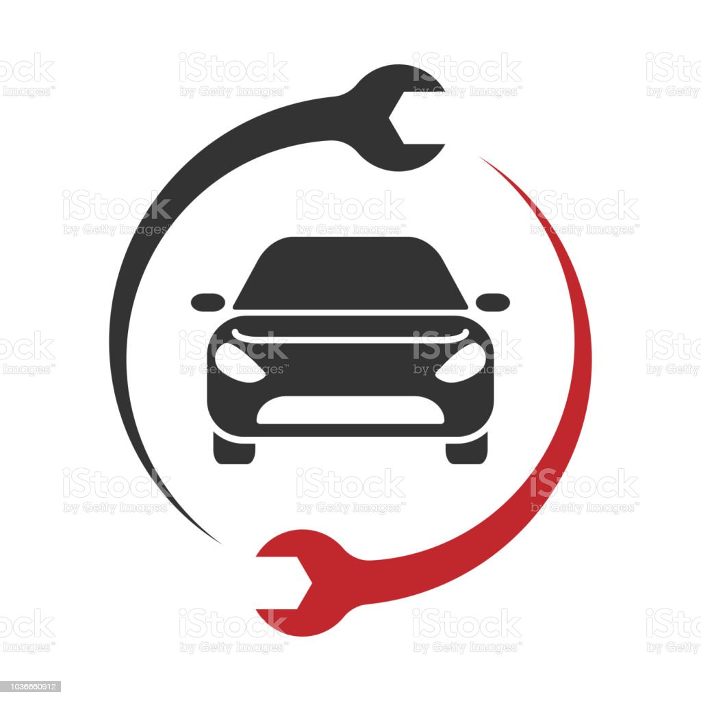 auto service logo car repair icon vector stock vector art more rh istockphoto com Fix Auto Logo Fix Auto Logo