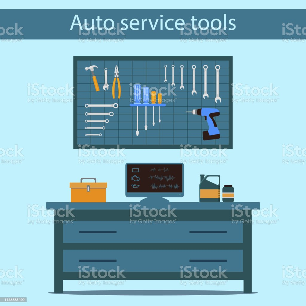 Service Station. Auto Service. Computer Diagnostics. Motor Repair....
