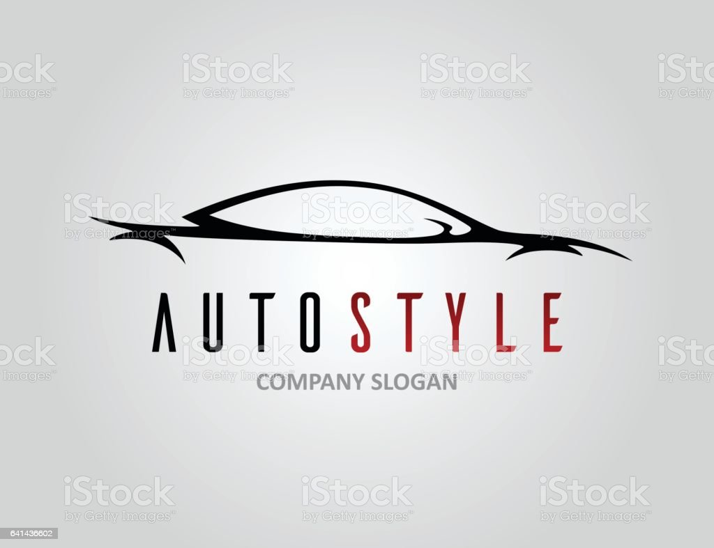 Auto Style Car Logo Design With Concept Sports Vehicle