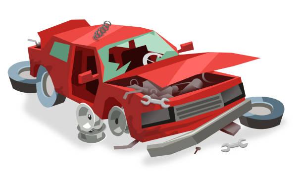 Best Junk Yard Illustrations, Royalty-Free Vector Graphics & Clip