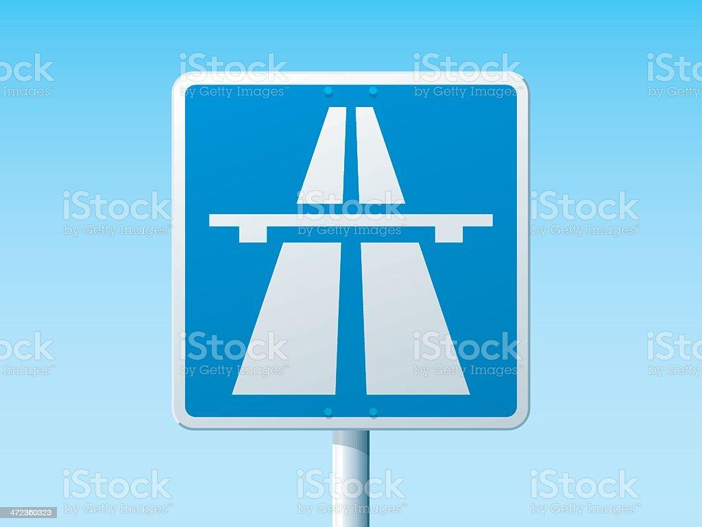Autobahn German Road Sign royalty-free stock vector art