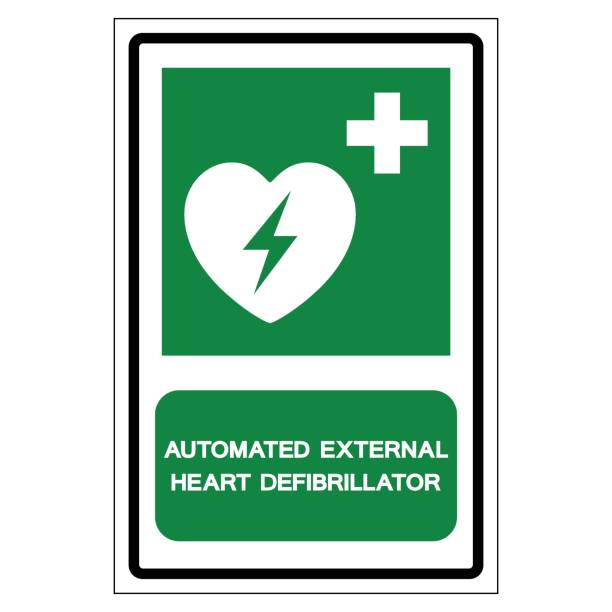 AED Automated External Defibrillator Symbol Sign, Vector Illustration, Isolate On White Background Label .EPS10 vector art illustration