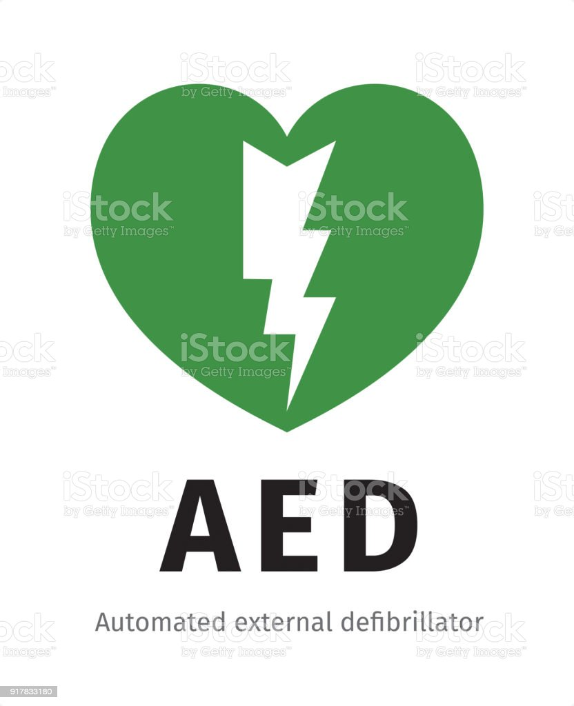 AED - Automated external defibrillator vector art illustration