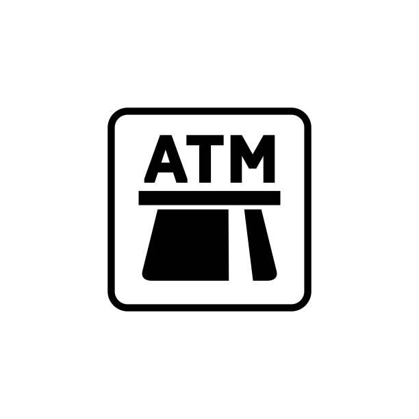 automated teller machine (atm) symbol - geldautomat stock-grafiken, -clipart, -cartoons und -symbole
