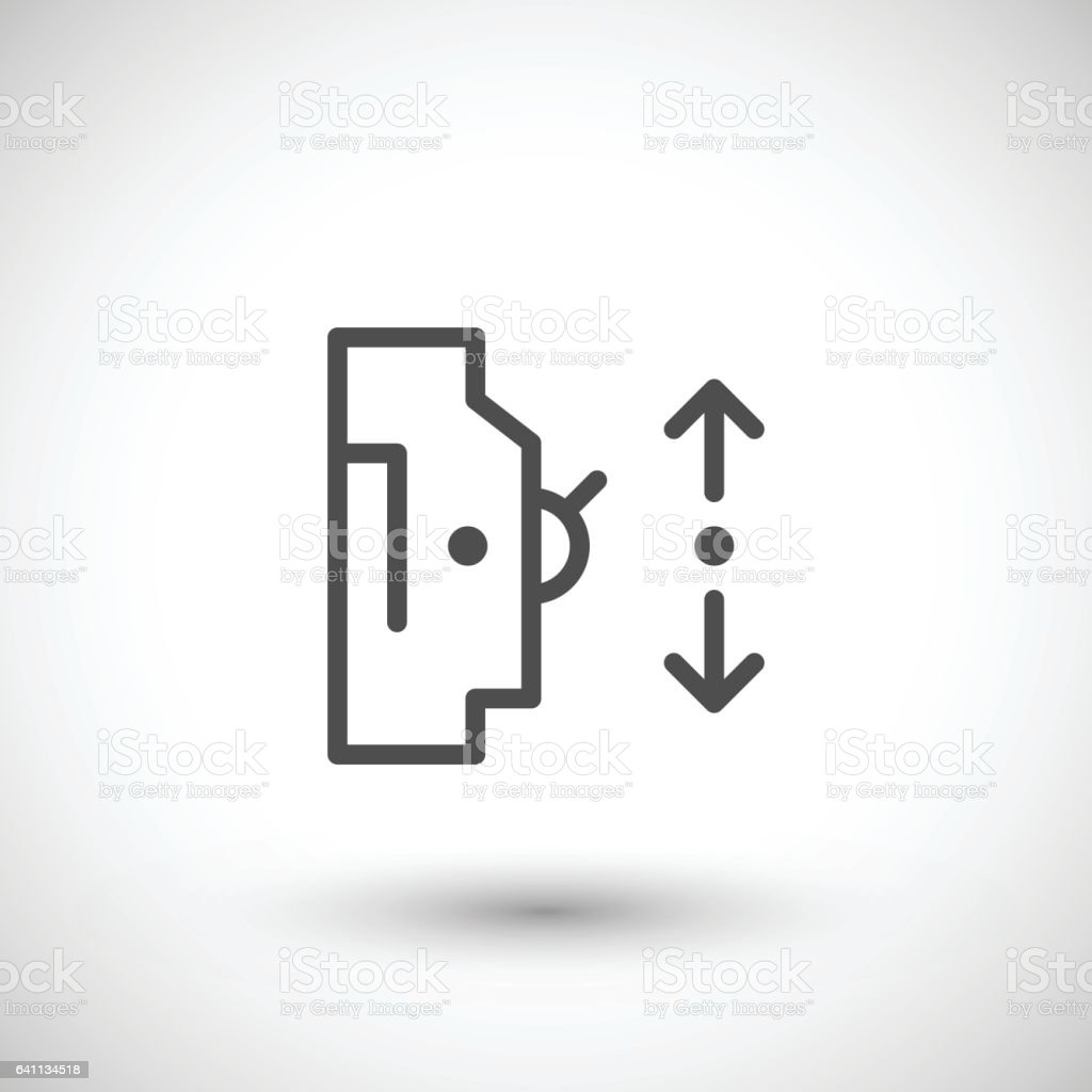 Automatic Circuit Breaker Line Icon Stock Vector Art More Images Royalty Free