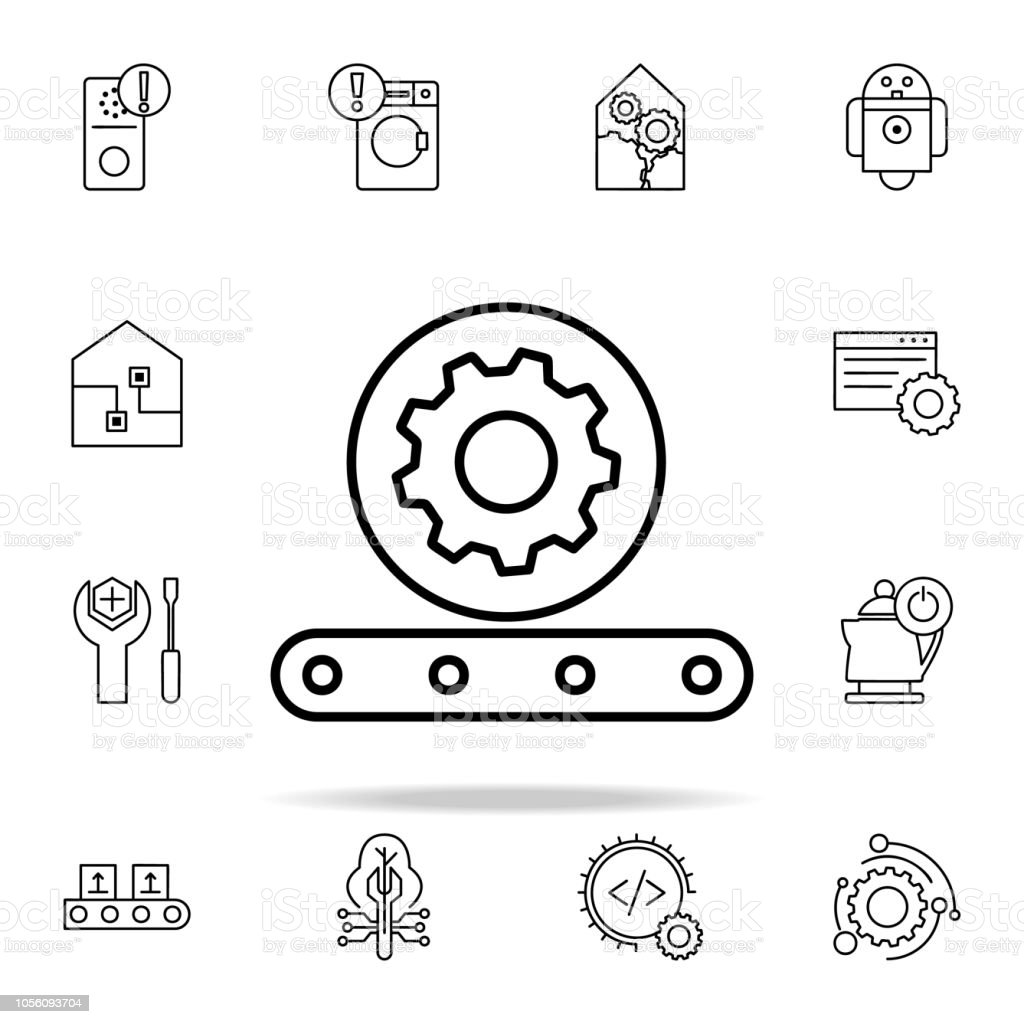 automatic production icon. Automation icons universal set for web and...