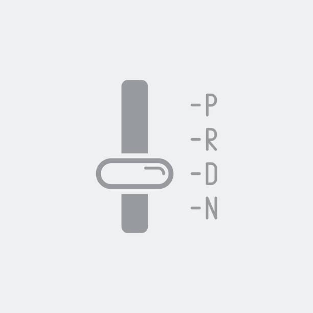 Automatic transmission symbol icon vector art illustration