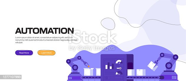 istock Automation Concept Vector Illustration for Website Banner, Advertisement and Marketing Material, Online Advertising, Business Presentation etc. 1277107993