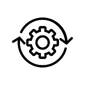 Automation icon vector. Thin line sign. Isolated contour symbol illustration