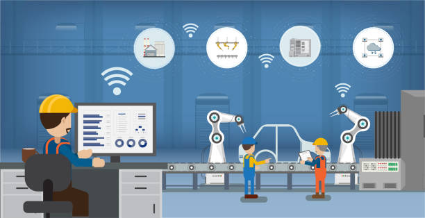 Automation industry concept vector art illustration