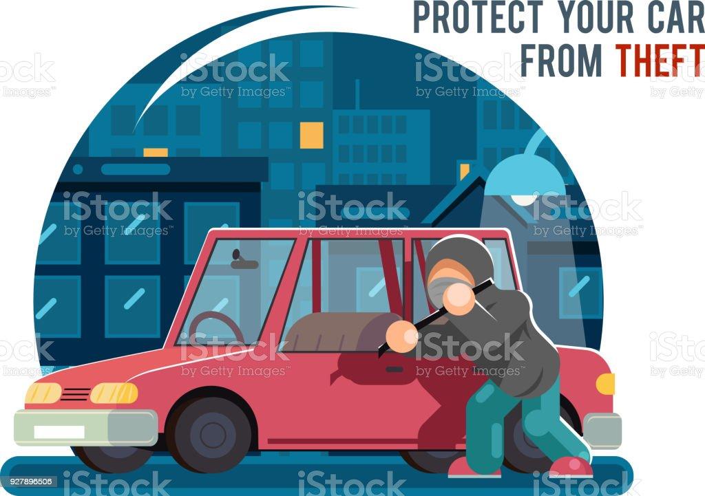 Stehlen Design kfz auto stehlen einbrecher räuber dieb raub geldbörse charakter