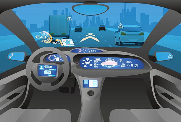 Autonomous vehicle stock illustrations