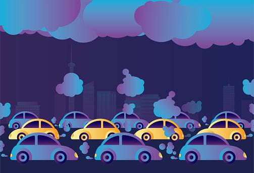 Pollution, City, Taxi, Car, Air Pollution,