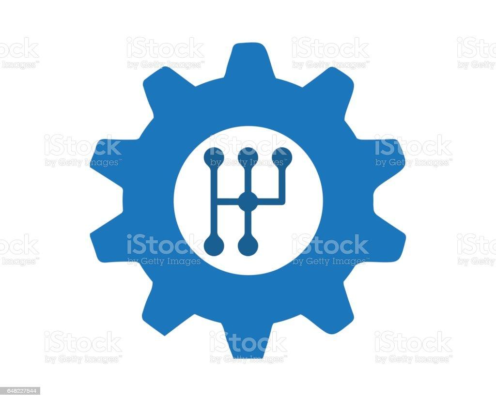 Automobile Gear Concept Design vector art illustration
