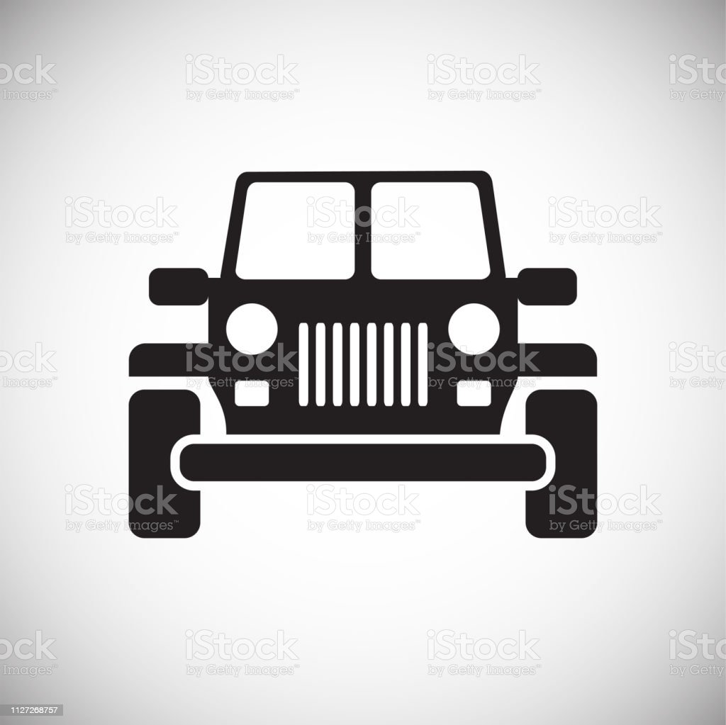 Automobile Icon On White Background For Graphic And Web