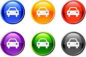 automobile icon/button set in 6 colors