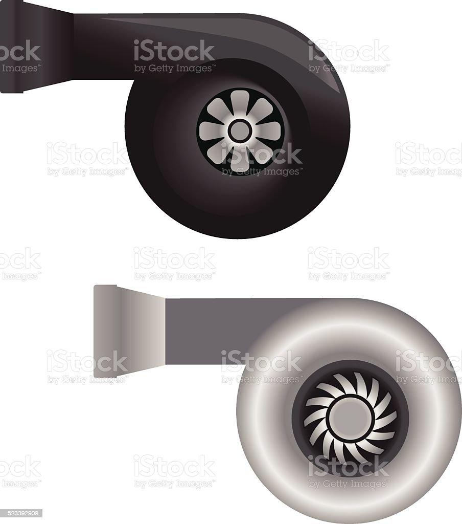 automobile turbo-Ladegerät – Vektorgrafik