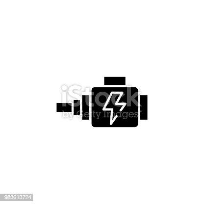 Kfz Lichtmaschine Schwarze Symbol Konzept Kfz Lichtmaschine Flach ...