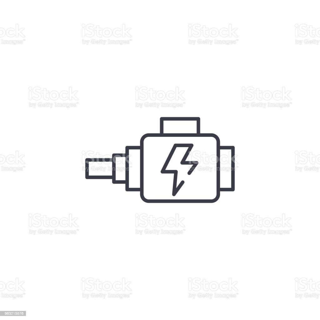 Automotive alternator linear icon concept. Automotive alternator line vector sign, symbol, illustration. vector art illustration
