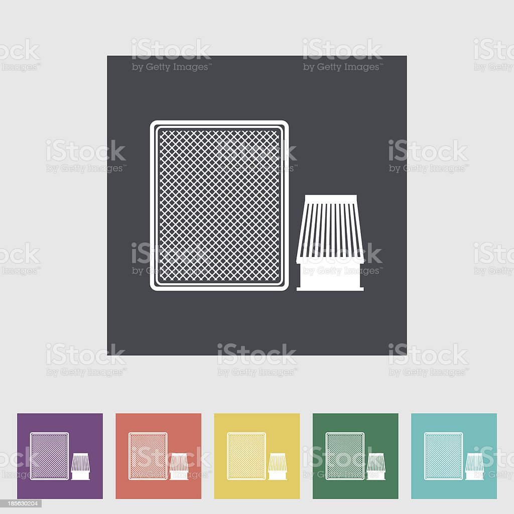 Automotive filter flat icon. vector art illustration