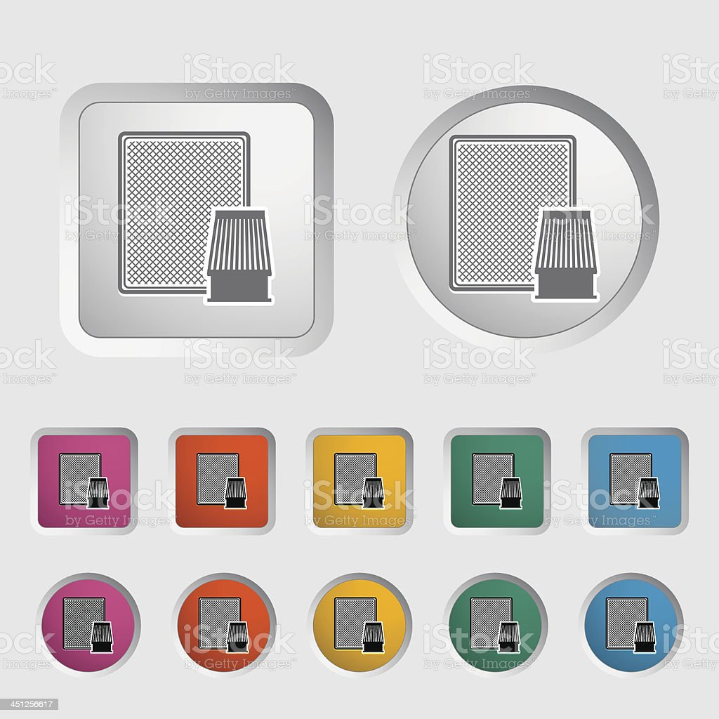 Automotive filter icon. vector art illustration