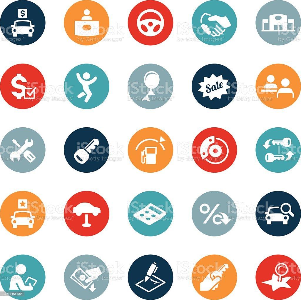 Automotive Industry Icons vector art illustration