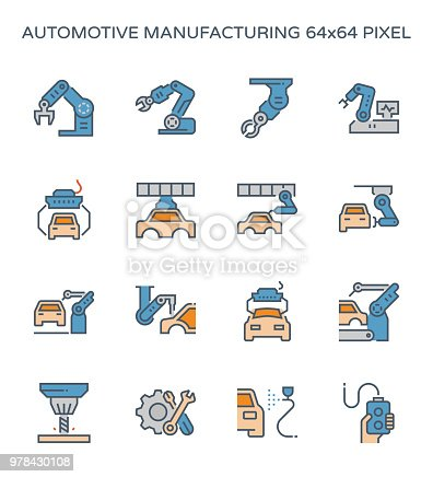 821521124 istock photo automotive manufacturing icon 978430108