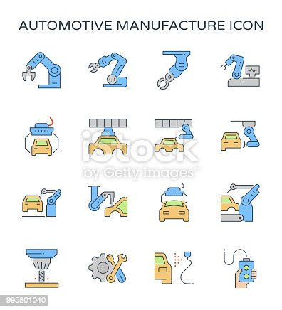 821521124 istock photo automotive manufacturing icon 995801040