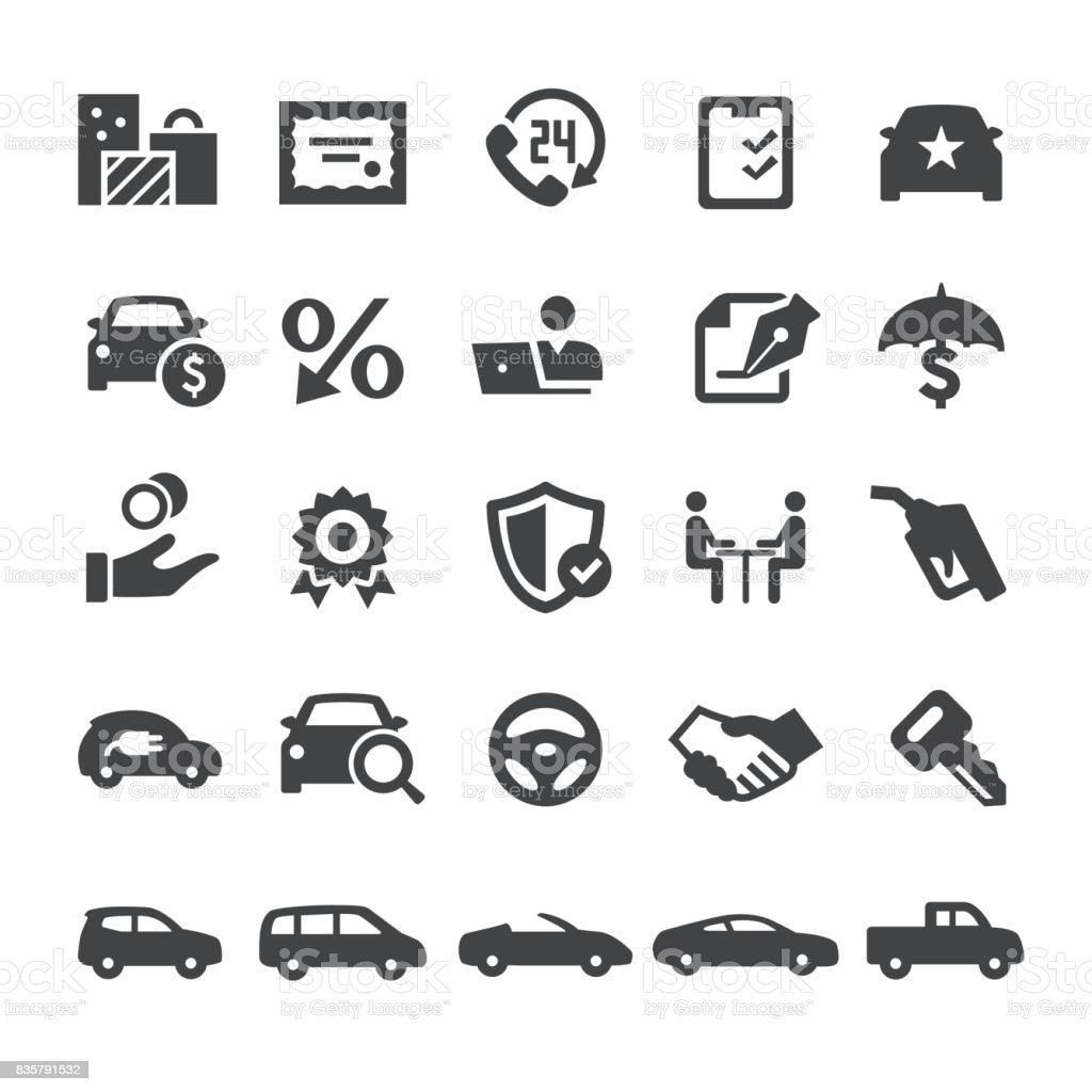 Automobil Vertrieb Icons - Smart-Serie – Vektorgrafik
