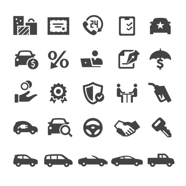 Automotive Sales Icons - Smart Series Automotive Sales Icons test drive stock illustrations