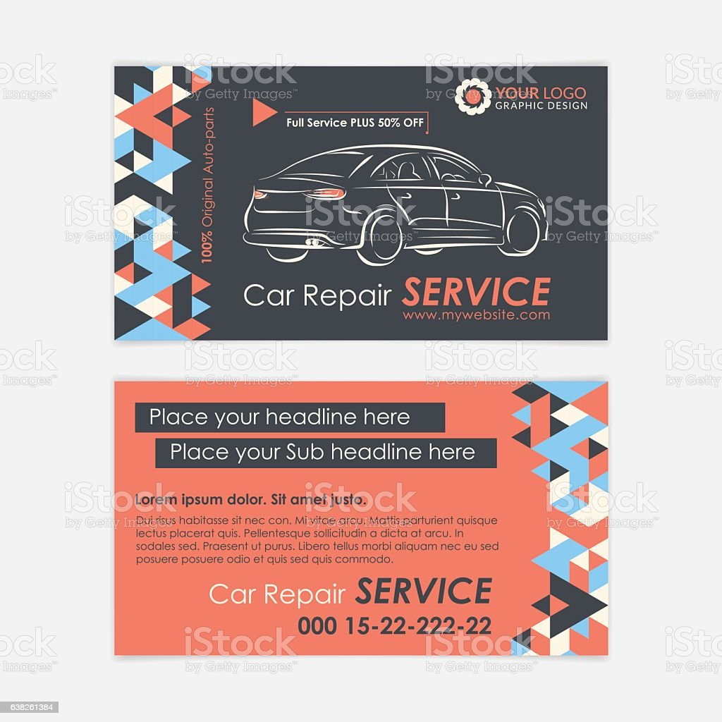 Automotive service business card template car diagnostics and automotive service business card template car diagnostics and transport repair royalty free automotive accmission Choice Image