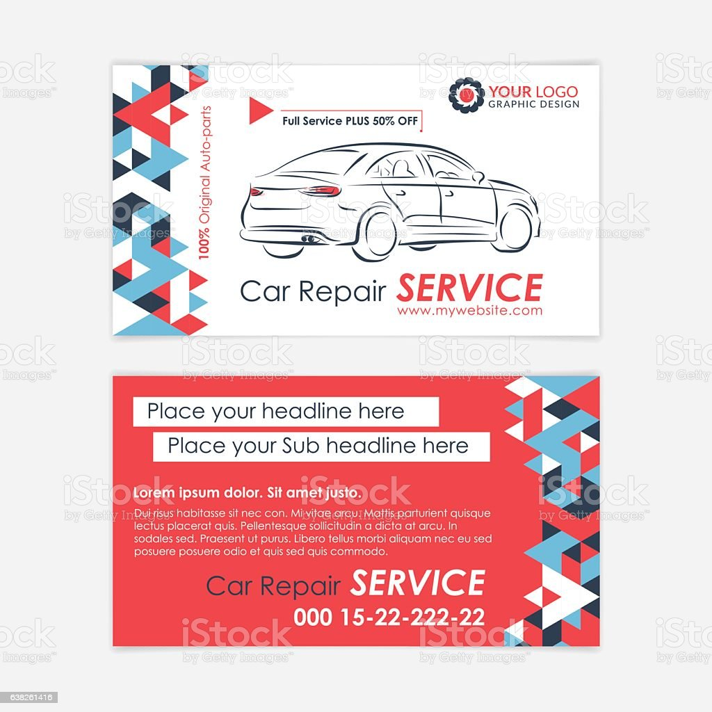 Automotive service business card template car diagnostics and automotive service business card template car diagnostics and transport repair royalty free automotive reheart Images