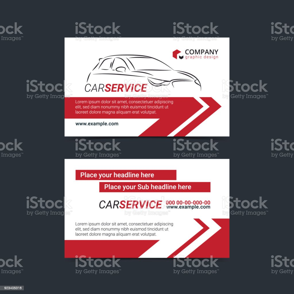 Automotive Service Business Cards Layout Templates Create Your Own ...