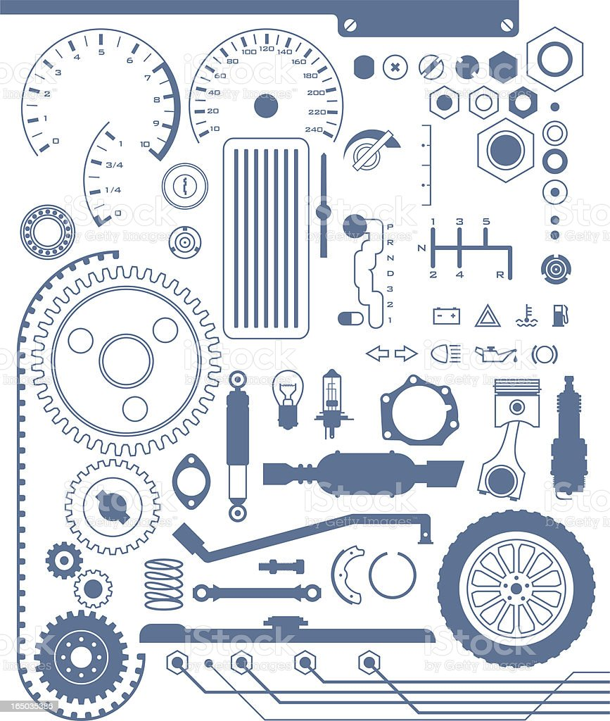 automotive shapes royalty-free stock vector art