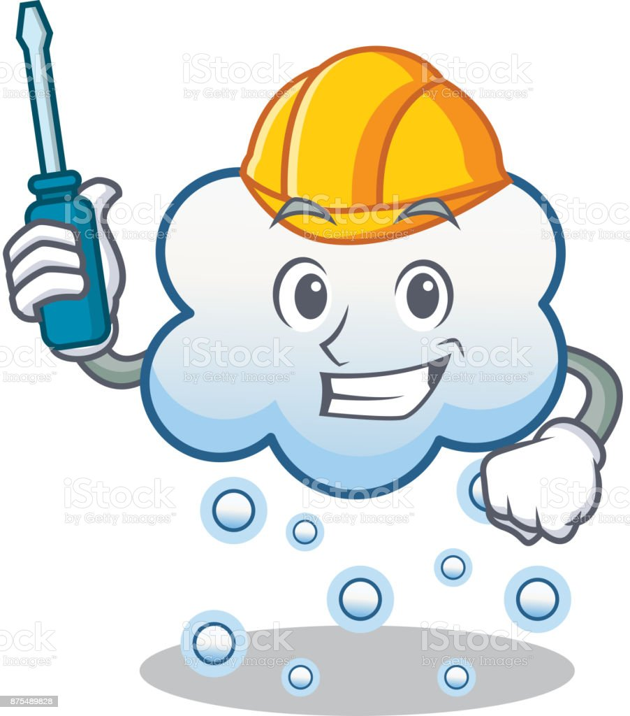 Kfz Schnee Wolke Charakter Cartoon Stock Vektor Art Und Mehr Bilder