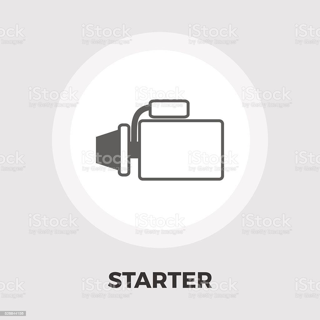Automotive starter flat icon vector art illustration