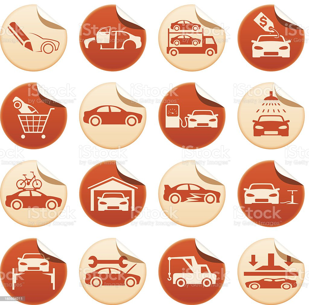 Automotive stickers royalty-free stock vector art