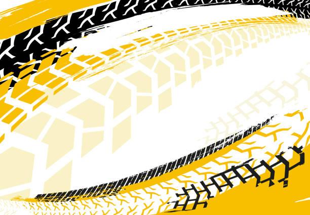 illustrazioni stock, clip art, cartoni animati e icone di tendenza di automotive tire background 23 - bike tire tracks