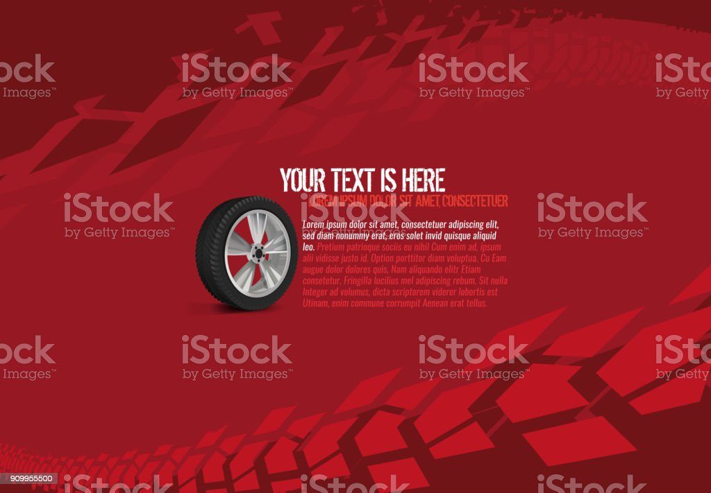 Automotive Tire Background vector art illustration