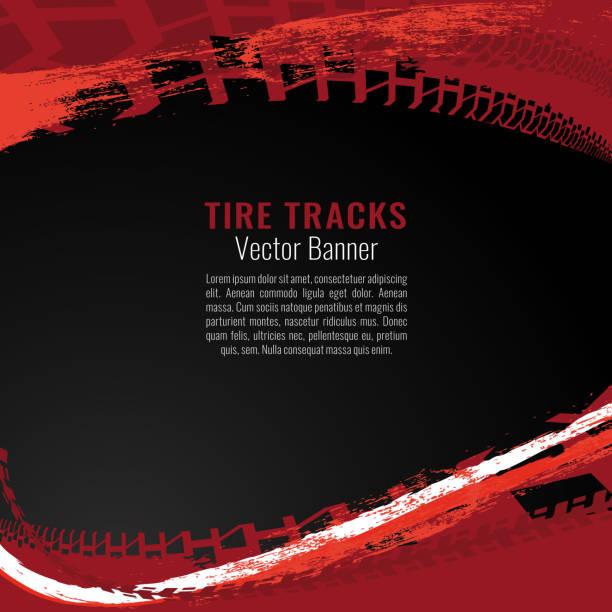 illustrazioni stock, clip art, cartoni animati e icone di tendenza di automotive tire background - transport truck tyres