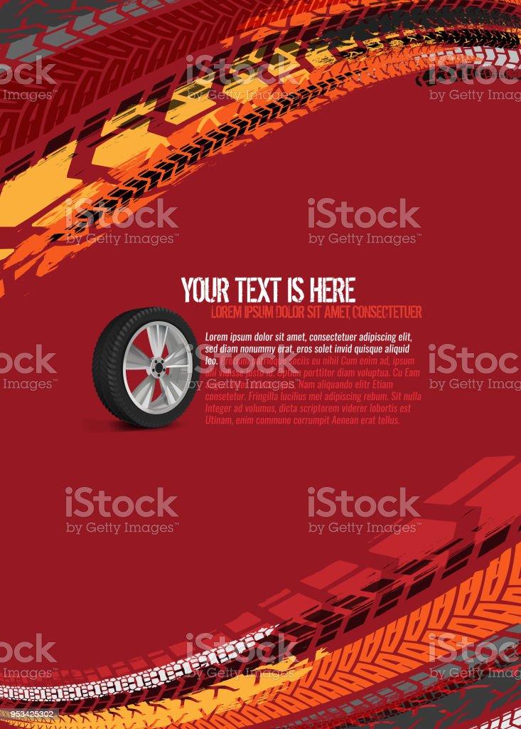 Automotive Tire Background vector art illustration