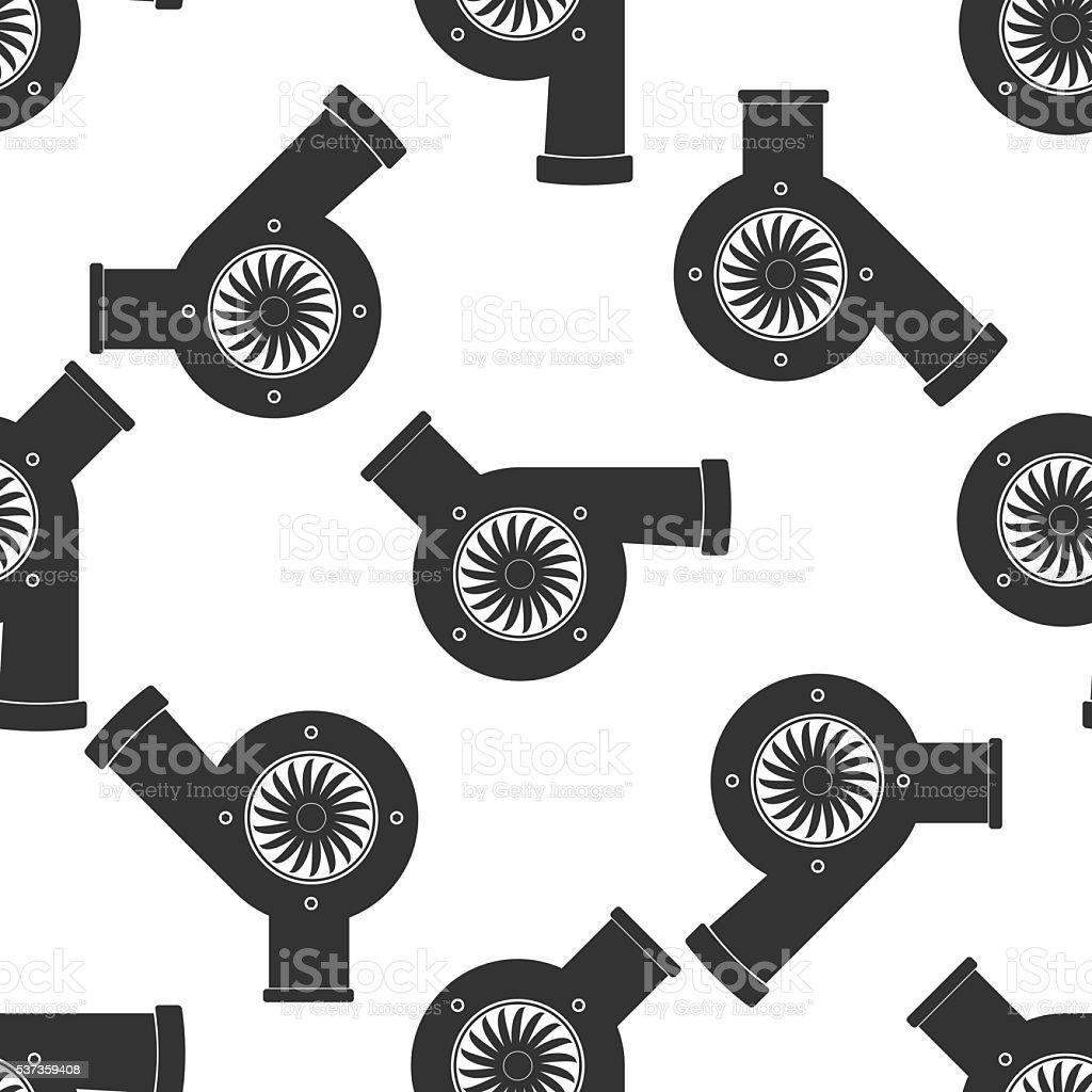 Kfz Turbolader Symbol-Muster – Vektorgrafik