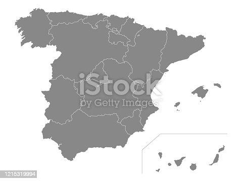 istock Autonomous Communities Map of Spain 1215319994
