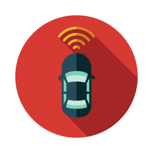 ilustraciones, imágenes clip art, dibujos animados e iconos de stock de icono de vehículo autónomo - vehículos sin conductor