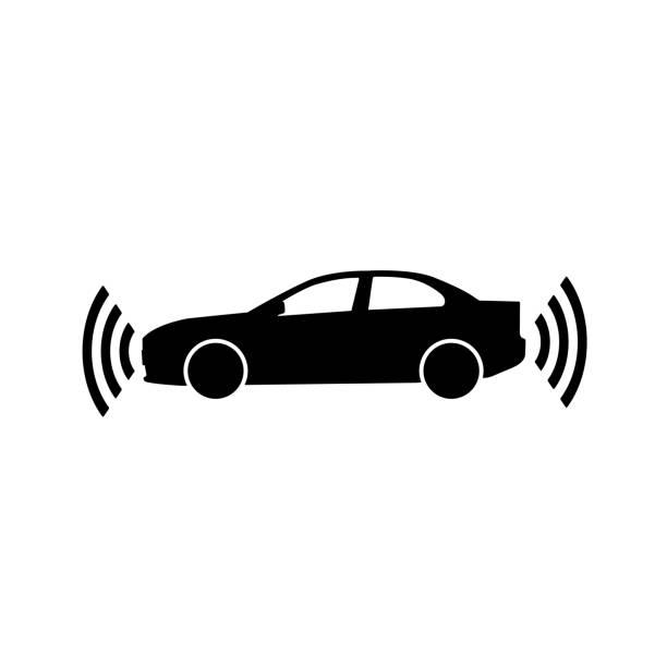 autopilot-symbol auf weißem hintergrund - infrarotfotografie stock-grafiken, -clipart, -cartoons und -symbole