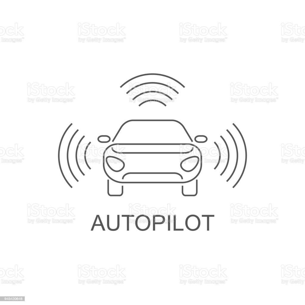 Autopilot Icon Simple Element Illustration Autopilot Symbol Design