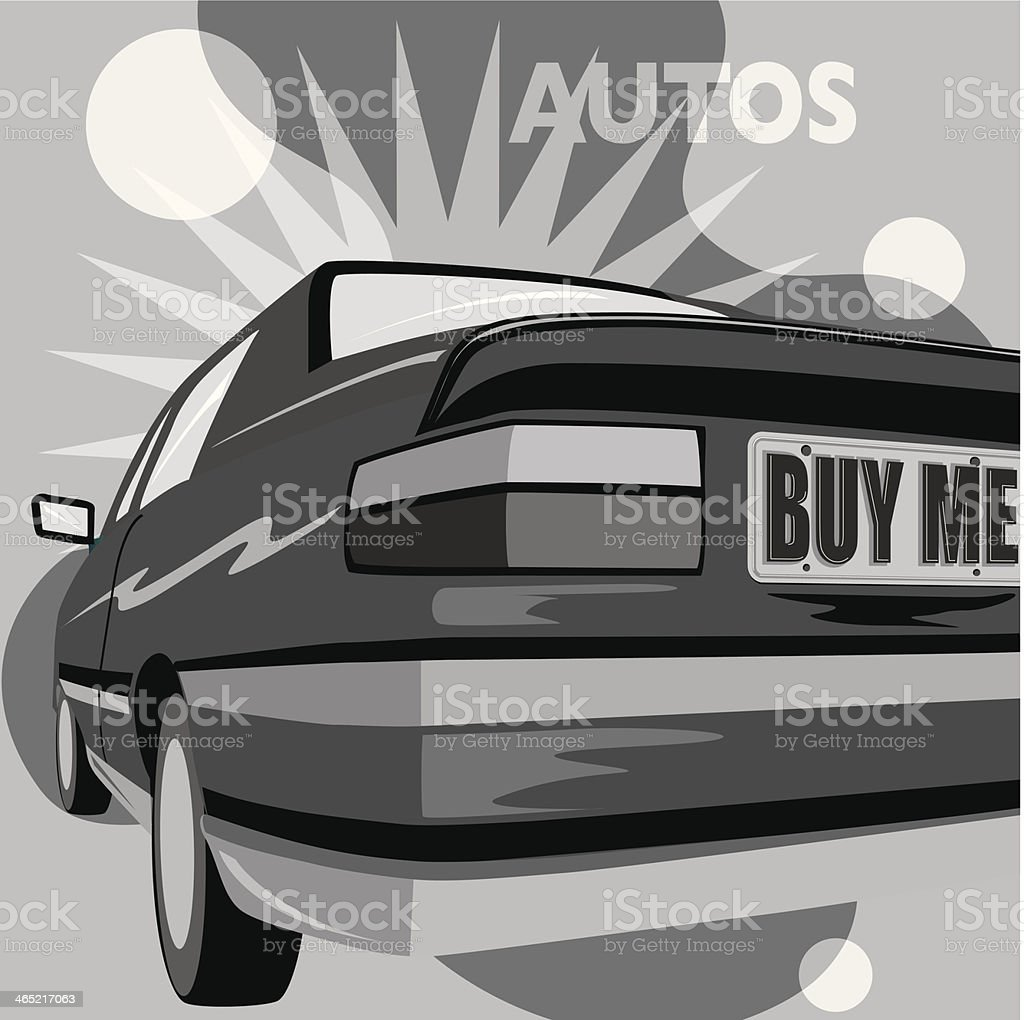 Autos Icon vector art illustration