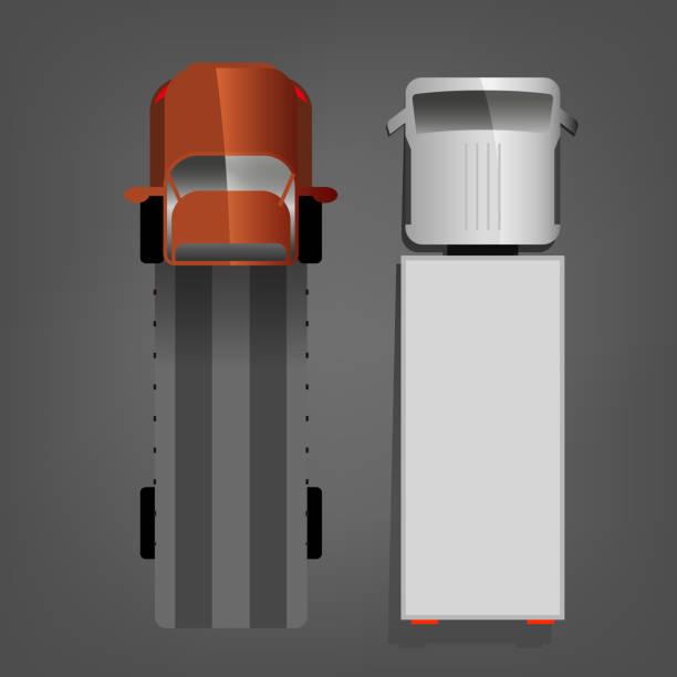 bildbanksillustrationer, clip art samt tecknat material och ikoner med autotruck vektorbild - traktor pulling
