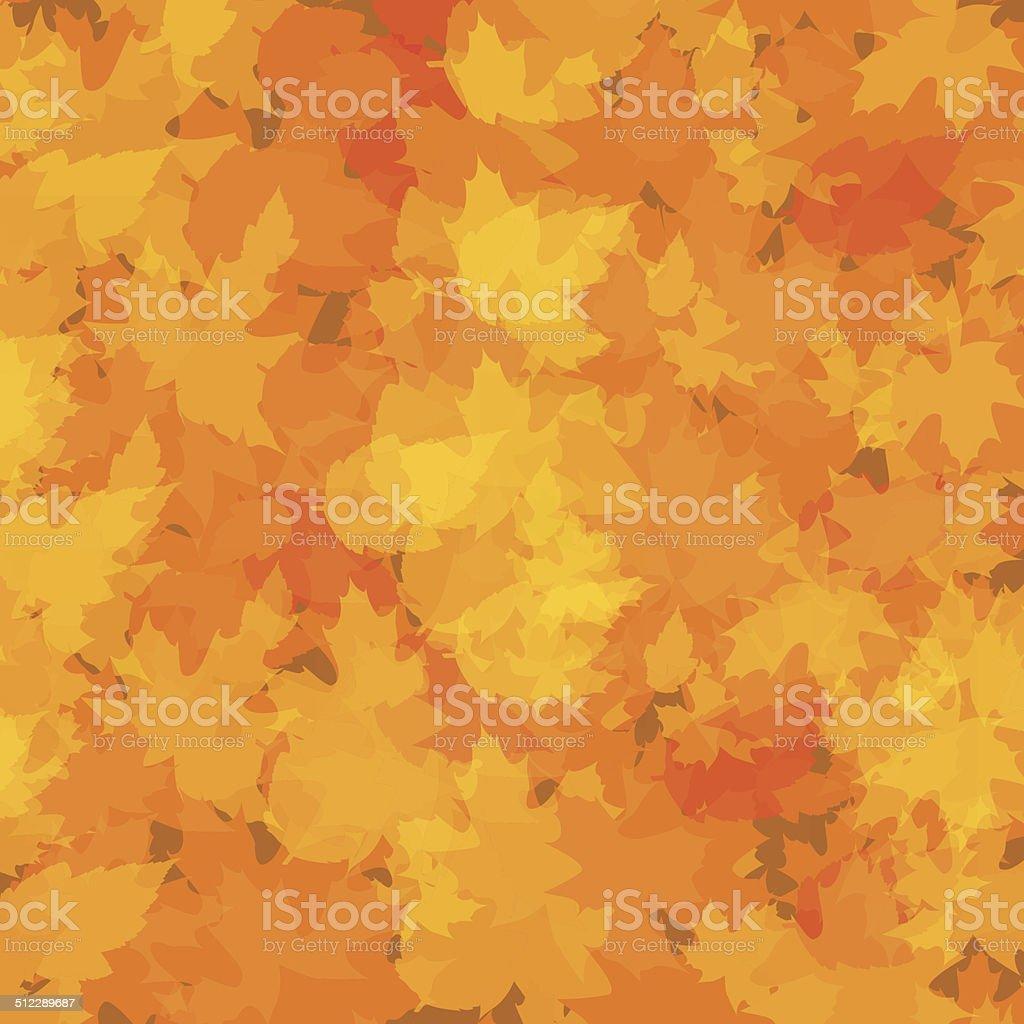 秋の抽象的な背景、リーフ ベクターアートイラスト