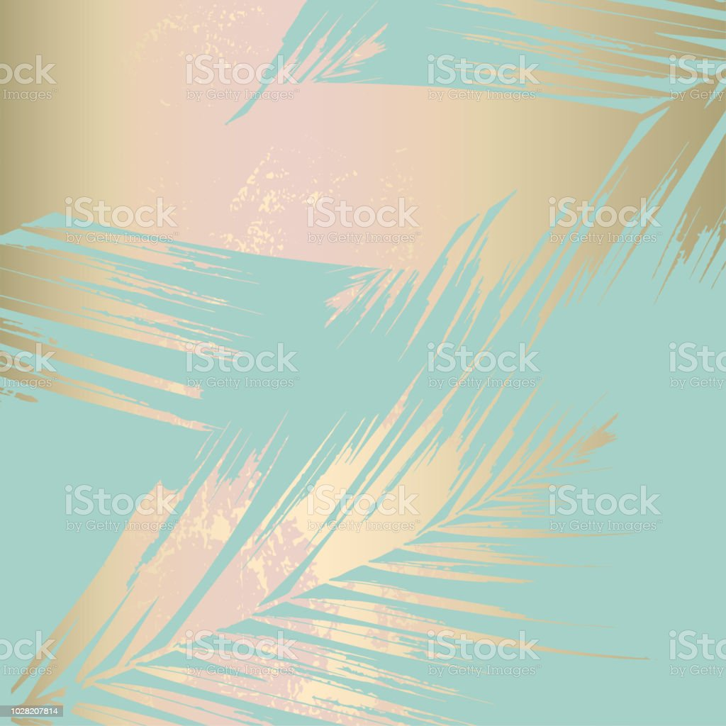 Autumn abstract foliage rose gold blush background